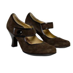 Sofft Brown Suede Mary Janes
